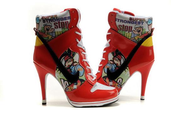 Popeye The Sailor Man Nike Dunk Heels High